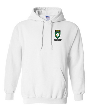 1st Special Operations Command (V) Embroidered Hooded Sweatshirt