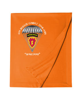 4th Brigade Combat Team (Airborne) Embroidered Dryblend Stadium Blanket