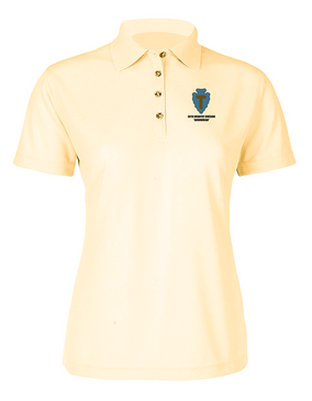 36th Infantry Division Ladies Embroidered Moisture Wick Polo Shirt