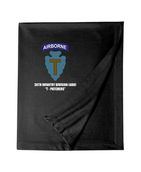 36th Infantry Division (Airborne) Embroidered Dryblend Stadium Blanket