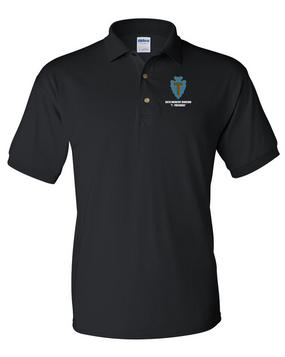 "36th Infantry Division ""T-Patchers"" Embroidered Cotton Polo Shirt"