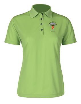 4th Brigade Combat Team (Airborne) Ladies Embroidered Moisture Wick Polo Shirt
