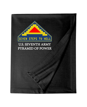 United States 7th Army  Embroidered Dryblend Stadium Blanket