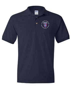 172nd Infantry Brigade (Airborne) (C)  Embroidered Cotton Polo Shirt