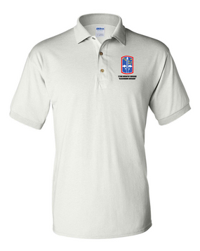 "172nd Infantry Brigade ""Blackhawk"" Embroidered Cotton Polo Shirt"