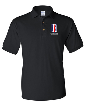 197th Infantry Brigade Embroidered Cotton Polo Shirt