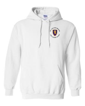 1st Aviation Brigade (C)  Embroidered Hooded Sweatshirt