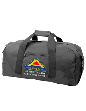 United States 7th Army Embroidered Duffel Bag
