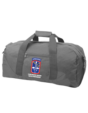 172nd Infantry Brigade (Airborne) Embroidered Duffel Bag