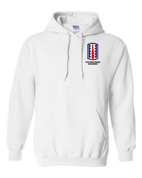 "197th Infantry Brigade ""Sledgehammer""  Embroidered Hooded Sweatshirt"