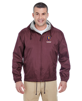 1st Aviation Brigade Embroidered Fleece-Lined Hooded Jacket