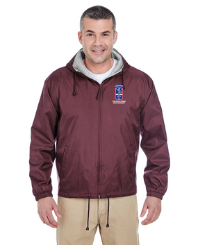 172nd Infantry Brigade (Airborne) Embroidered Fleece-Lined Hooded Jacket