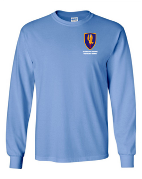 1st Aviation Brigade Long-Sleeve Cotton T-Shirt