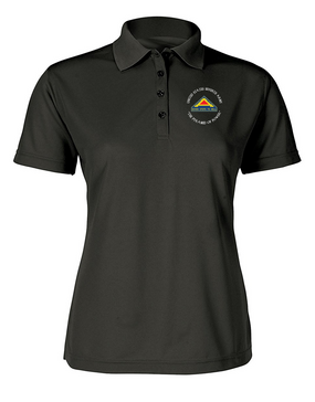 United States 7th Army (C)  Ladies Embroidered Moisture Wick Polo Shirt