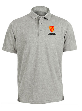 32nd Army Air Defense Command  Embroidered Moisture Wick Polo  Shirt