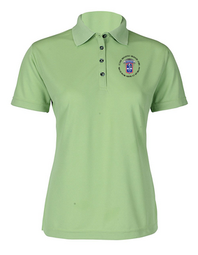 172nd Infantry Brigade (Airborne) (C) Ladies Embroidered Moisture Wick Polo Shirt