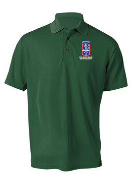 172nd Infantry Brigade (Airborne) Embroidered Moisture Wick Polo  Shirt