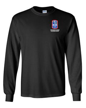 "172nd Infantry Brigade ""Blackhawk""  Long-Sleeve Cotton T-Shirt"