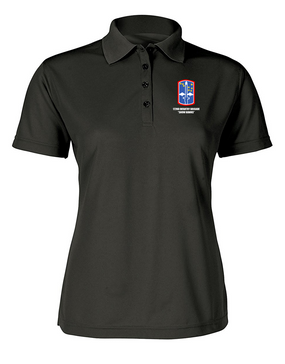 """172nd Infantry Brigade """"Snow Hawks""""  Ladies Embroidered Moisture Wick Polo Shirt"""