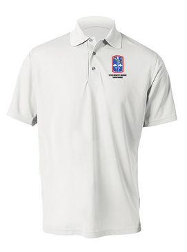 """172nd Infantry Brigade """"Snow Hawks""""  Embroidered Moisture Wick Polo  Shirt"""