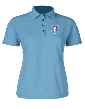 197th Infantry Brigade (C)  Ladies Embroidered Moisture Wick Polo Shirt