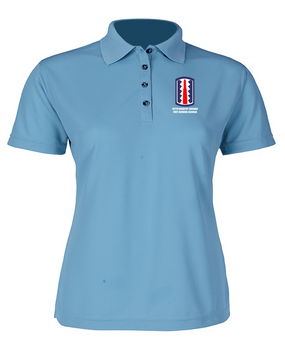 197th Infantry Brigade Ladies Embroidered Moisture Wick Polo Shirt