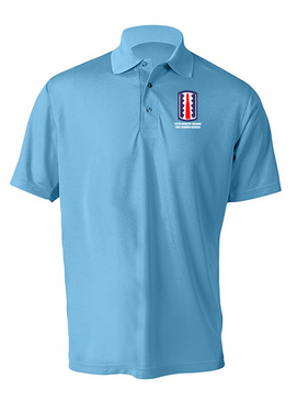 197th Infantry Brigade Embroidered Moisture Wick Polo  Shirt