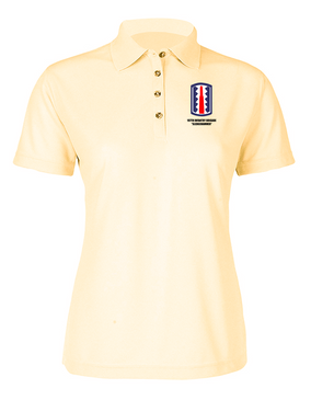 """197th Infantry Brigade """"Sledgehammer""""  Ladies Embroidered Moisture Wick Polo Shirt"""