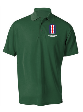 """197th Infantry Brigade """"Sledgehammer""""  Embroidered Moisture Wick Polo  Shirt"""