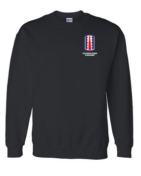 """197th Infantry Brigade """"Sledgehammer""""  Embroidered Sweatshirt"""