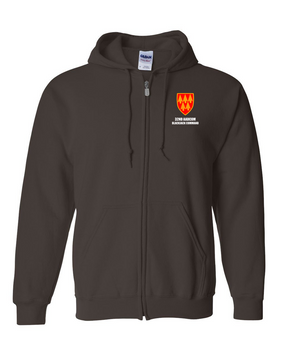 32nd Army Air Defense Command Embroidered Hooded Sweatshirt with Zipper