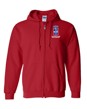 172nd Infantry Brigade (Airborne) Embroidered Hooded Sweatshirt with Zipper