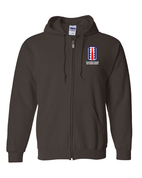 197th Infantry Brigade Embroidered Hooded Sweatshirt with Zipper