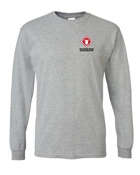 20th Engineer Brigade Long-Sleeve Cotton T-Shirt