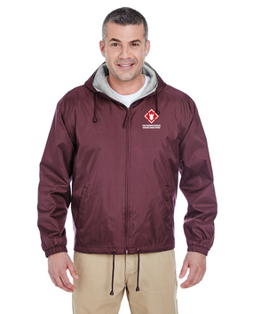 20th Engineer Brigade Embroidered Fleece-Lined Hooded Jacket