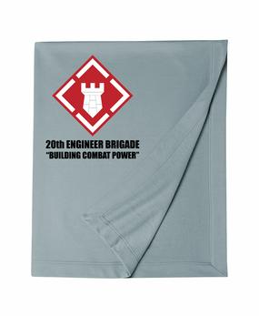 20th Engineer Brigade  Embroidered Dryblend Stadium Blanket