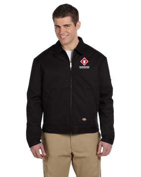 20th Engineer Brigade Embroidered Dickies 8 oz. Lined Eisenhower Jacket