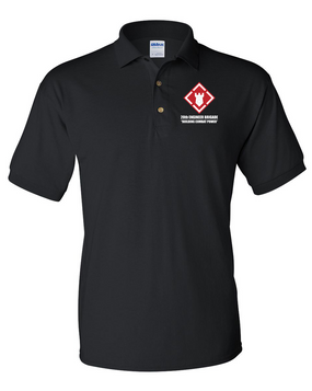 20th Engineer Brigade Embroidered Cotton Polo Shirt
