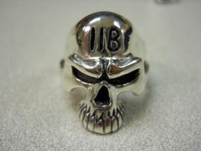 11Bravo Grunt Skull Sterling Silver Ring
