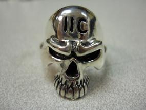 11C Grunt Skull Sterling Silver Ring
