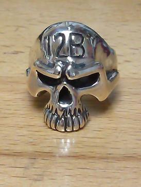 12 Bravo Combat Engineer Skull Ring