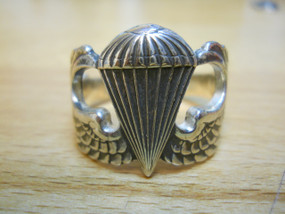 US Army Basic Parachutist Sterling Silver Ring