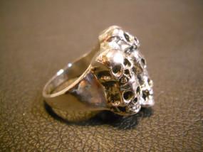 Pile of Skulls Sterling Silver Ring