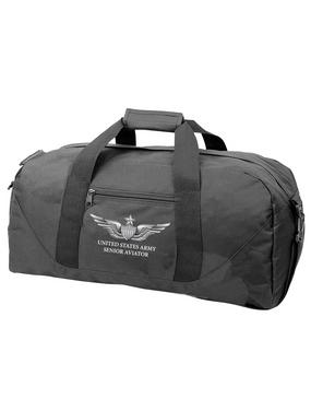 US Army Senior Aviator Embroidered Duffel Bag
