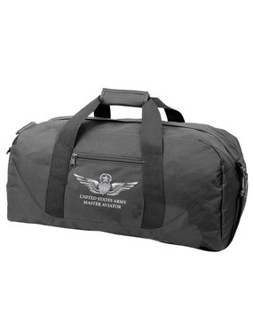 US Army Master Aviator Embroidered Duffel Bag