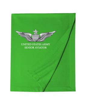US Army Senior Aviator Embroidered Dryblend Stadium Blanket