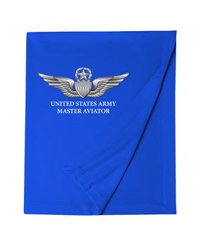 US Army Master Aviator Embroidered Dryblend Stadium Blanket