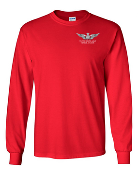 US Army Senior Aviator Long-Sleeve Cotton T-Shirt