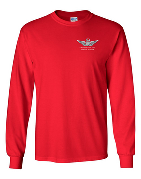 US Army Master Aviator Long-Sleeve Cotton T-Shirt
