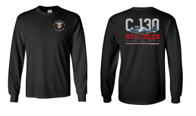 "82nd Signal Battalion ""C-130"" Long Sleeve Cotton Shirt"